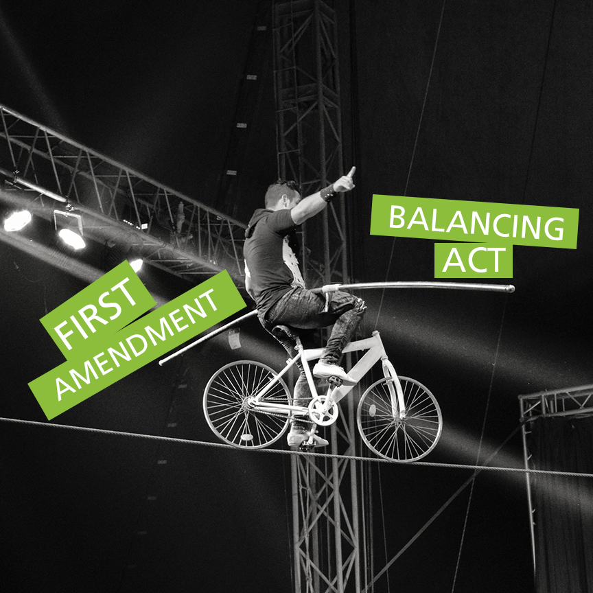 balancing act first amendment
