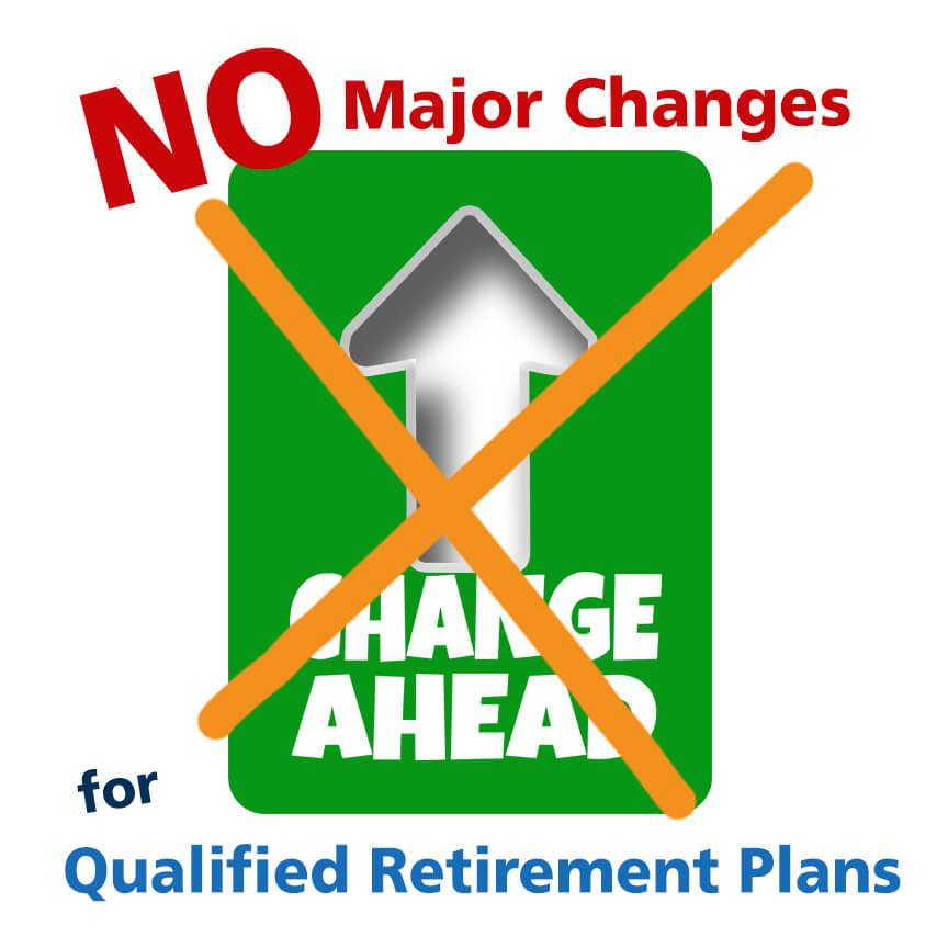 qualified retirement plans contributions no changes
