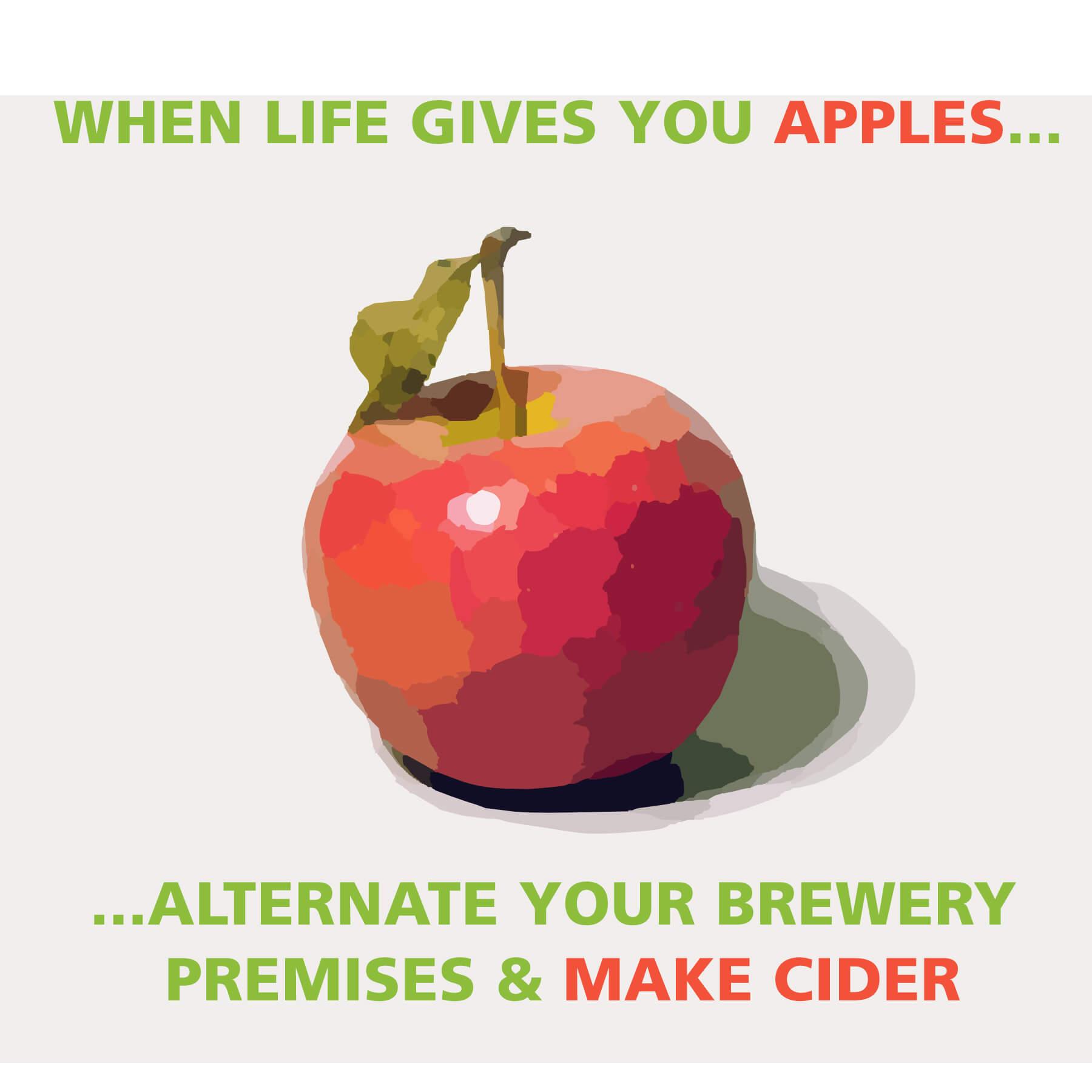 life gives apples alternate your brewery premises make cider