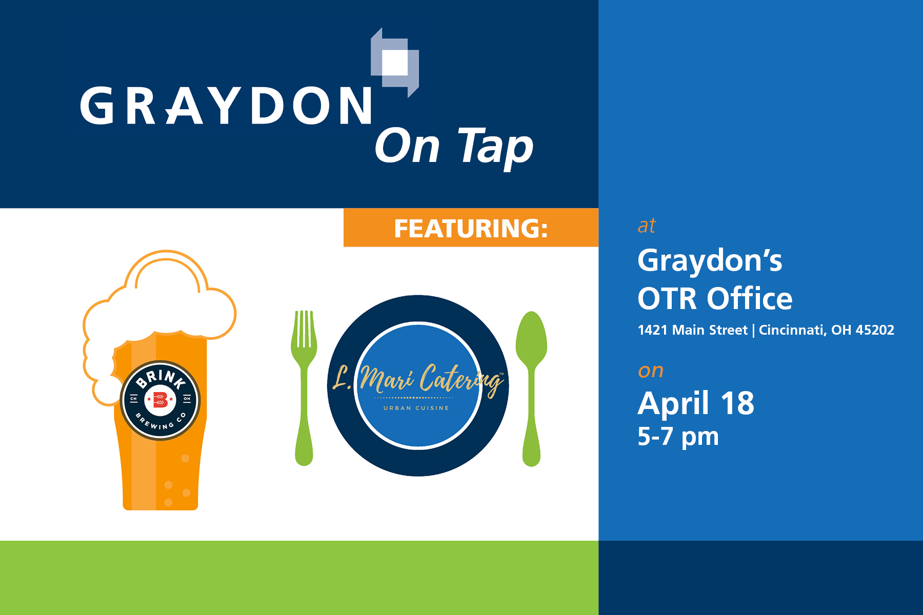 Graydon on Tap Brink Brewery and El Mari Catering
