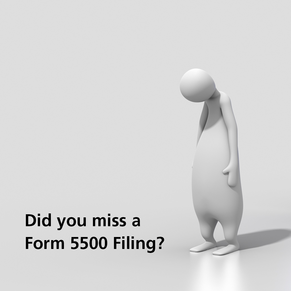 miss a form 5500 filing for a plan