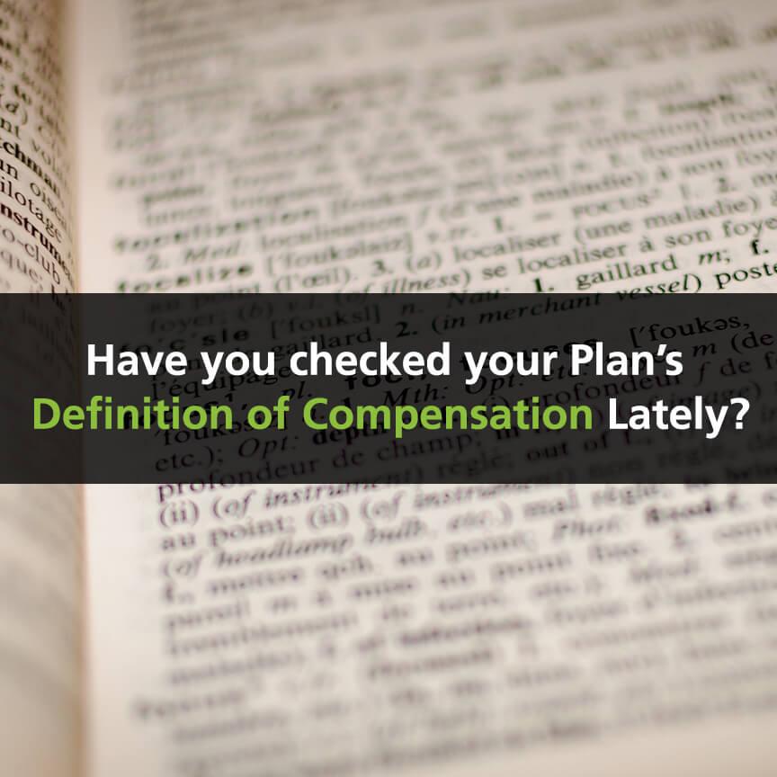 definition of compensation, 401(K) plans