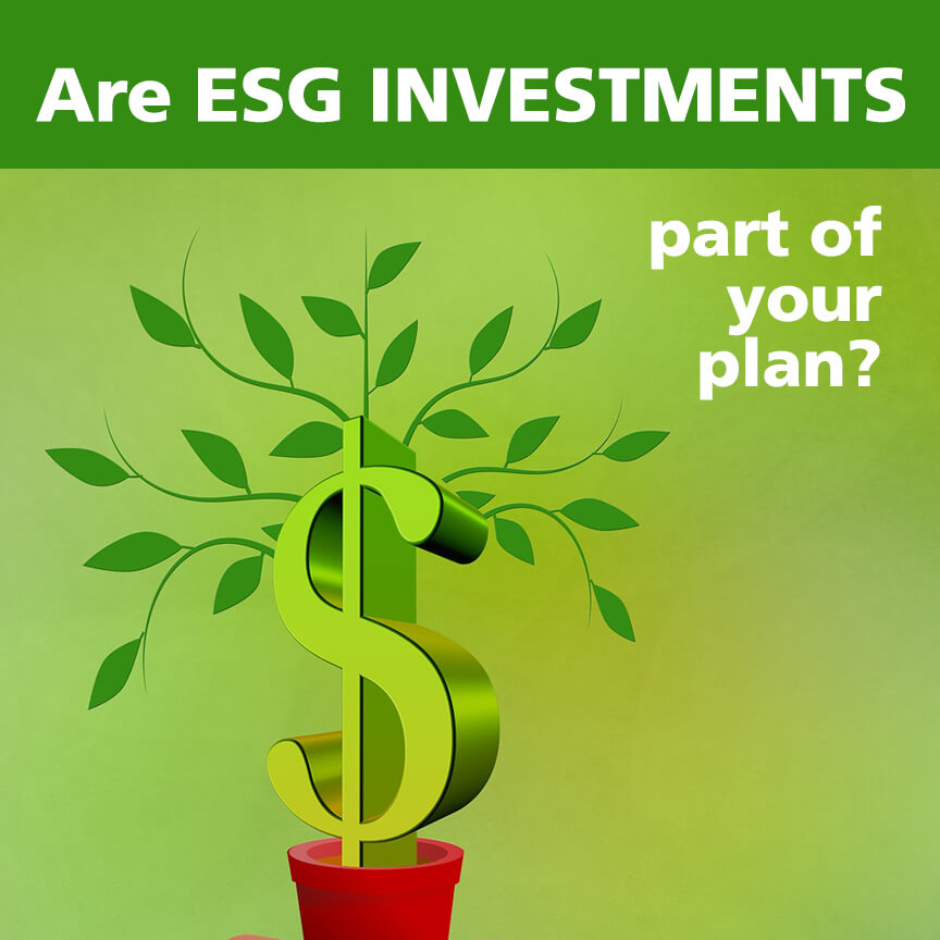 esg investments part of plan