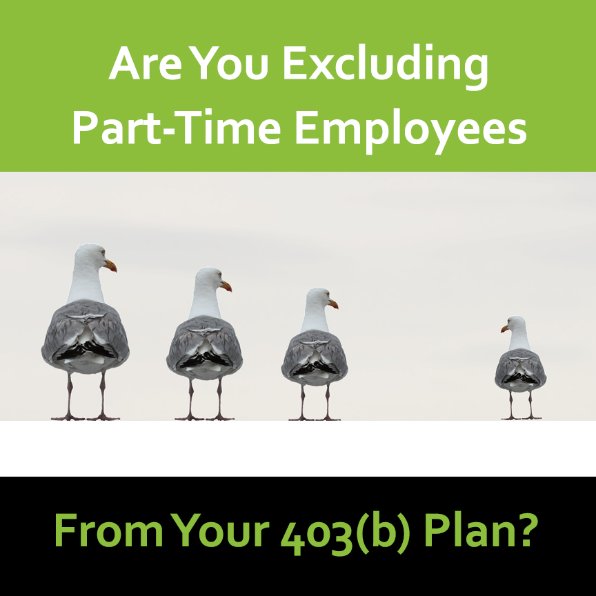 Excluding Part-time employees 403b plan