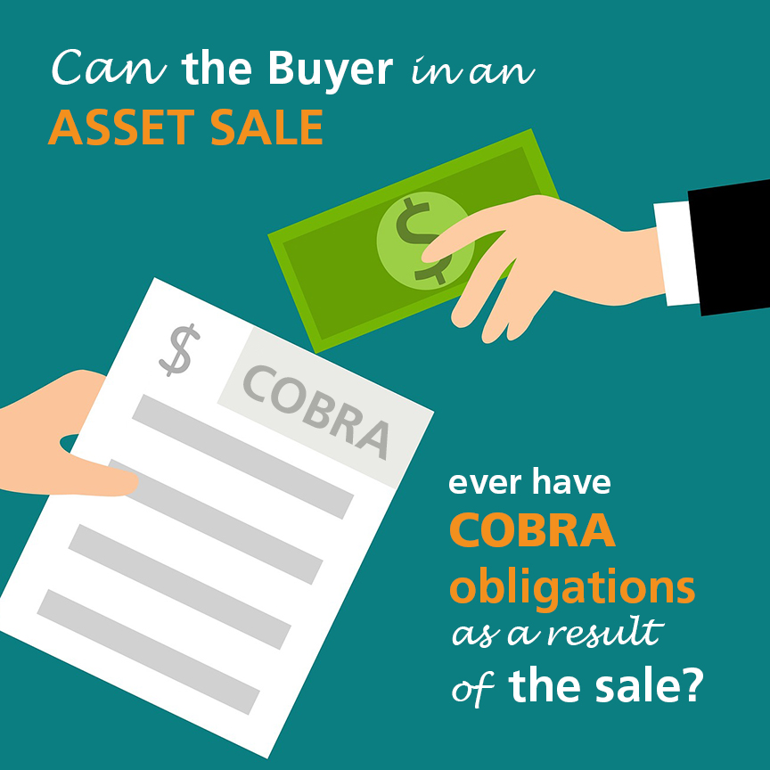 COBRA obligations asset sale