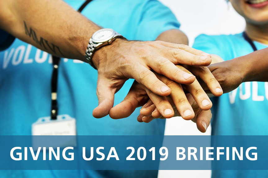 giving USA 2019 briefing