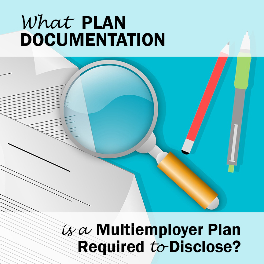 plan documentation multiemployer plan required disclose