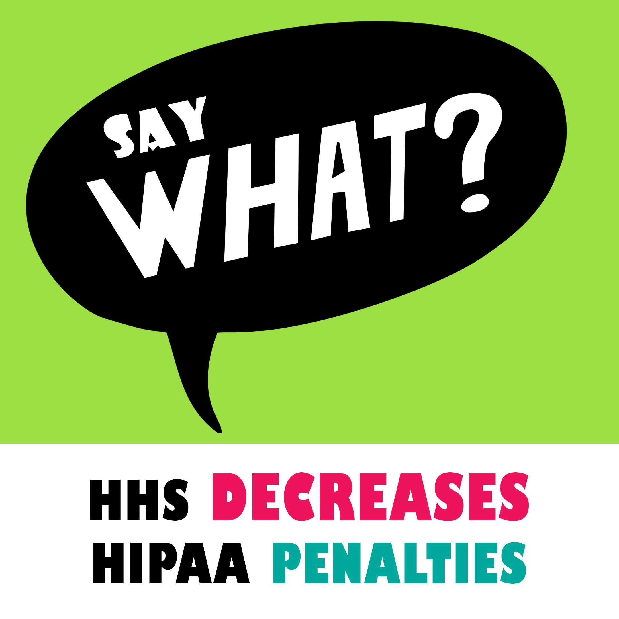 hhs decreases hippa penalties
